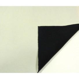 tissu polaire bicolore écru/noir largeur 147cm x 50cm