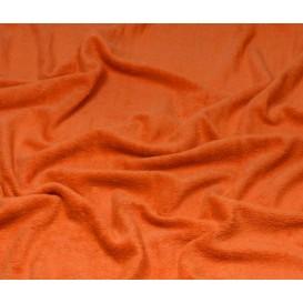 tissu éponge orange largeur 160cm x 50cm