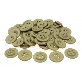 Lot 50 boutons ronds beige 18mm