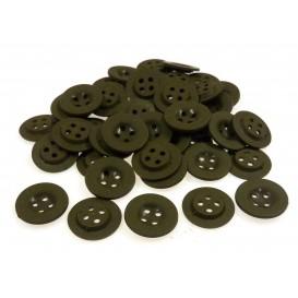 Lot 50 boutons ronds kaki 18mm