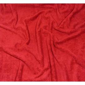 tissu éponge rouge largeur 160cm x 50cm