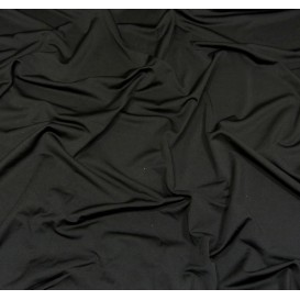 tissu lycra léger noir largeur 140cm x 50cm