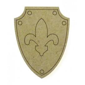 sujet en bois bouclier chevalier