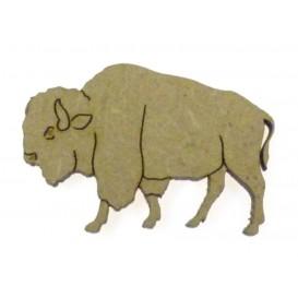 sujet en bois bison