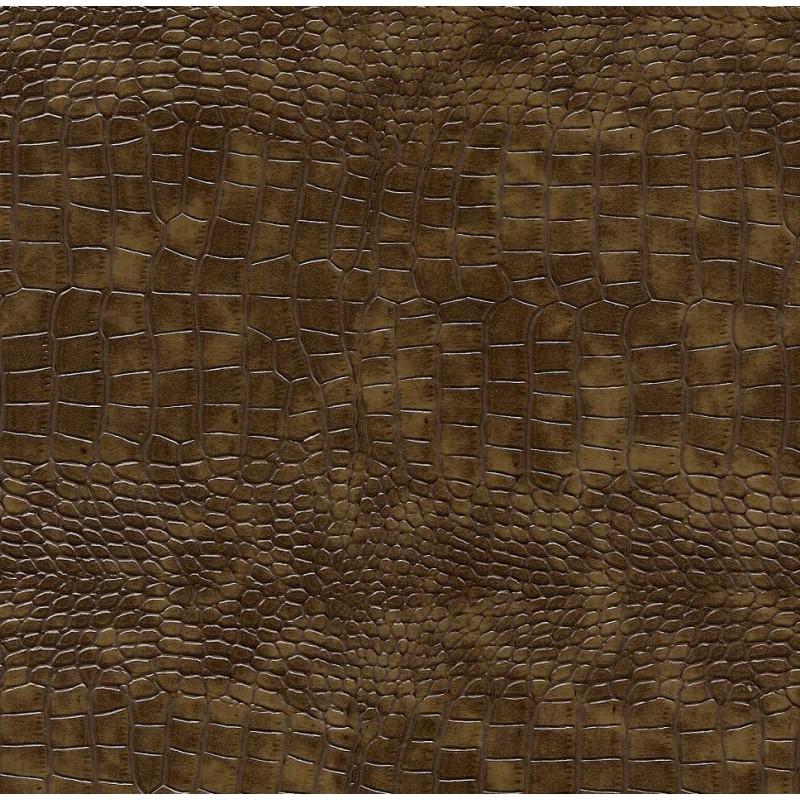 tissu simili cuir crocodile marron largeur 138cm x 50cm. Black Bedroom Furniture Sets. Home Design Ideas