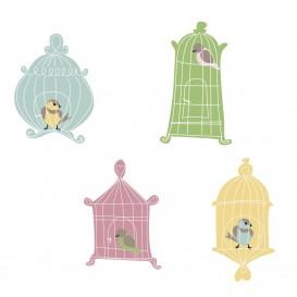 8 embellissements cages oiseaux en bois