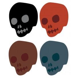 8 embellissements têtes de mort en bois