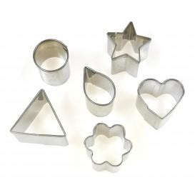 6 emporte-pièces métalliques assortis