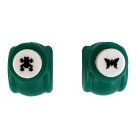 2 perforatrices papillon et grenouille 1cm
