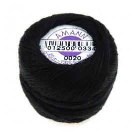 fil à repriser amann 100% coton noir 20m