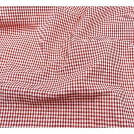 tissu vichy 2mm rouge largeur 140cm x 50cm