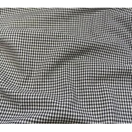 tissu vichy 2mm noir largeur 140cm x 50cm