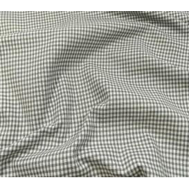 tissu vichy 2mm gris largeur 140cm x 50cm