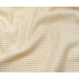 tissu vichy 2mm beige largeur 140cm x 50cm