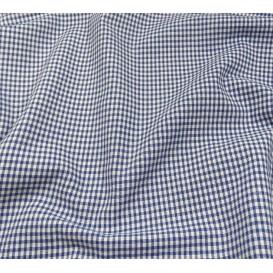 tissu vichy 2mm bleu largeur 140cm x 50cm