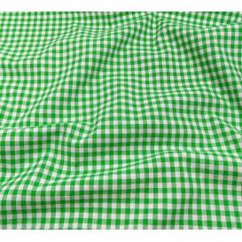 tissu vichy 4mm vert largeur 140cm x 50cm