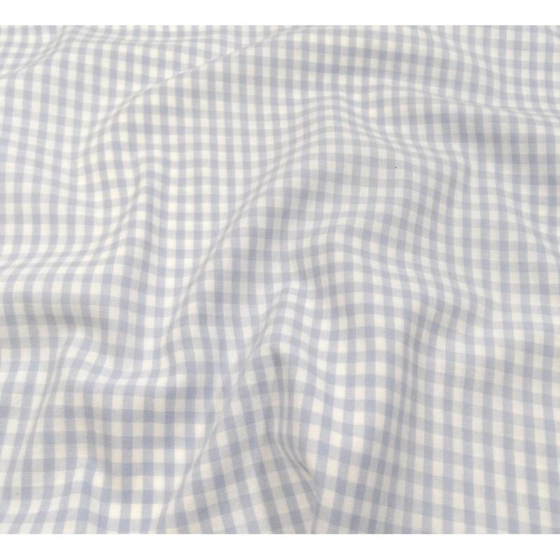 tissu vichy 4mm bleu ciel largeur 140cm x 50cm. Black Bedroom Furniture Sets. Home Design Ideas