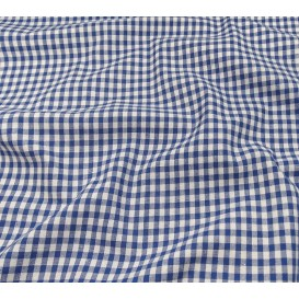 tissu vichy 4mm bleu largeur 140cm x 50cm
