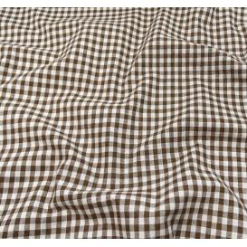 tissu vichy 4mm marron largeur 140cm x 50cm