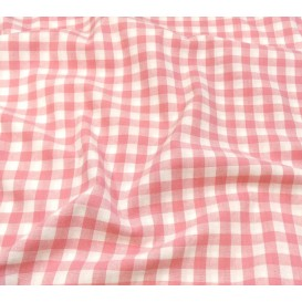 tissu vichy 10mm rose largeur 147cm x 50cm