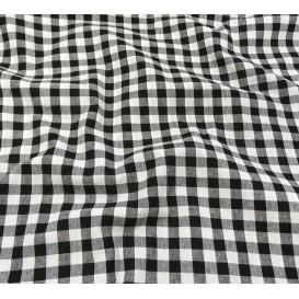 tissu vichy 10mm noir largeur 147cm x 50cm