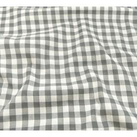 tissu vichy 10mm gris largeur 147cm x 50cm