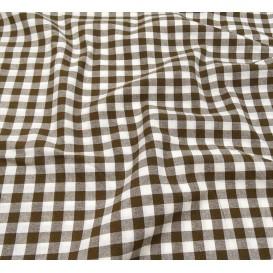 tissu vichy 10mm marron largeur 147cm x 50cm