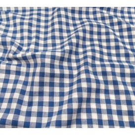 tissu vichy 10mm bleu largeur 147cm x 50cm