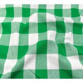 tissu vichy 38mm vert largeur 140cm x 50cm