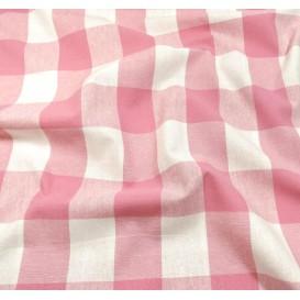 tissu vichy 38mm rose largeur 140cm x 50cm