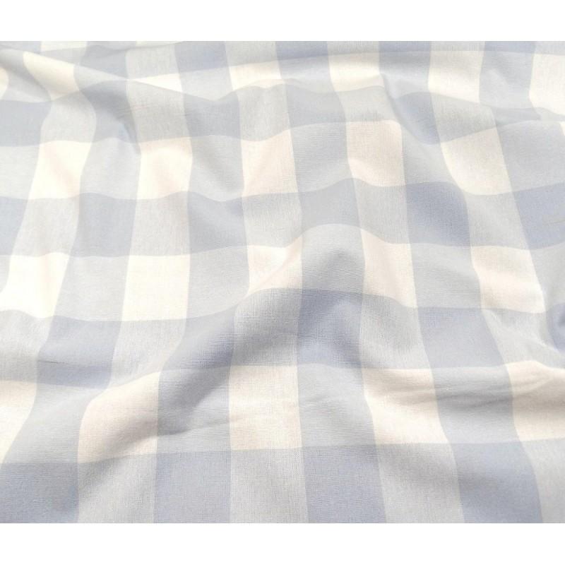 tissu vichy 38mm bleu ciel largeur 140cm x 50cm. Black Bedroom Furniture Sets. Home Design Ideas