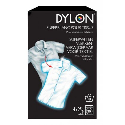 super blanc pour tissus dylon 4 x 25g. Black Bedroom Furniture Sets. Home Design Ideas