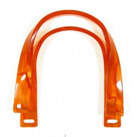 anses de sac plastique orange 12cm