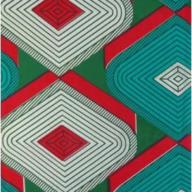 tissu africain wax grands losanges largeur 113cm x 50cm