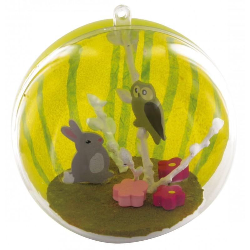 Boule g ante en plastique 20cm - Boule plastique transparente ...