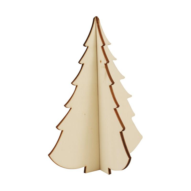 Sapin droit en bois assembler 10x13cm - Sapin en bois a decorer ...