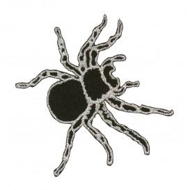 écusson araignée noir et lurex thermocollant