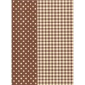 feuille decopatch pois rayures vichy marron