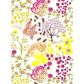FEUILLE DECOPATCH NATURE JAUNE