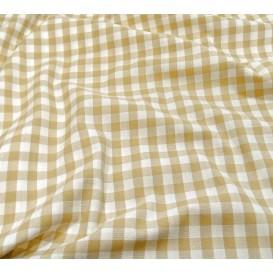 tissu vichy 10mm beige largeur 147cm x 50cm