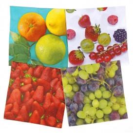 lot de 12 serviettes papier fruits