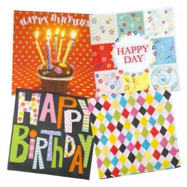 lot de 12 serviettes papier anniversaire n°2
