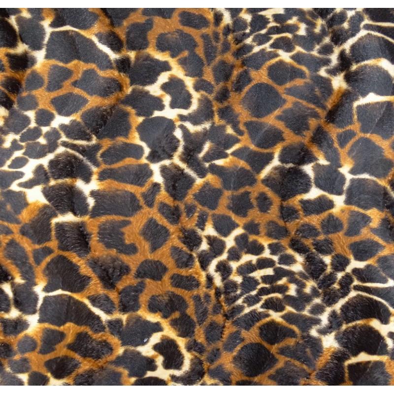 tissu peau de b te girafe marron largeur 150cm x 50cm. Black Bedroom Furniture Sets. Home Design Ideas