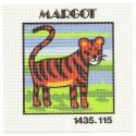 kit canevas margot tigre