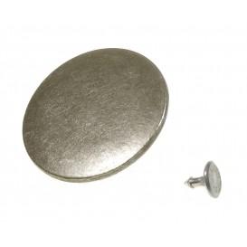 bouton jeans métal argent 40mm