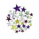 strass étoiles multicolores 204 pièces