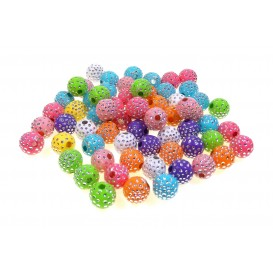 perles acryliques strass 10mm