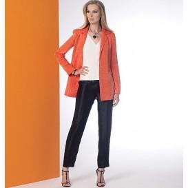 patron veste, haut, robe et pantalon Vogue V9176