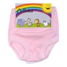 2 culottes bébé fille rose et blanc 0-3mois