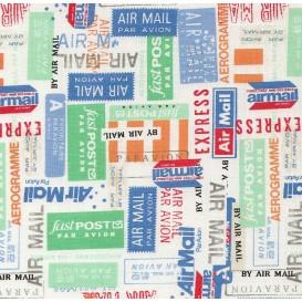 tissu patchwork makower airmail largeur 110cm x 25cm